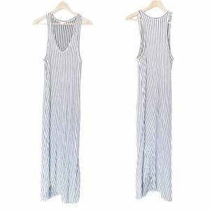 Caution to the Wind Striped Sleeveless Maxi Dress